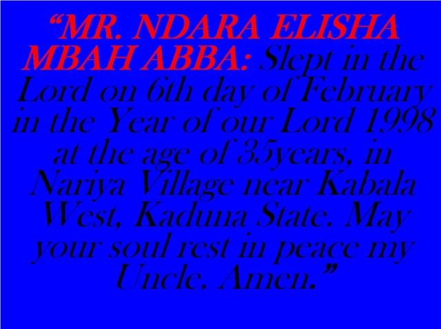 NDARA ELISHA MBAH ABBA